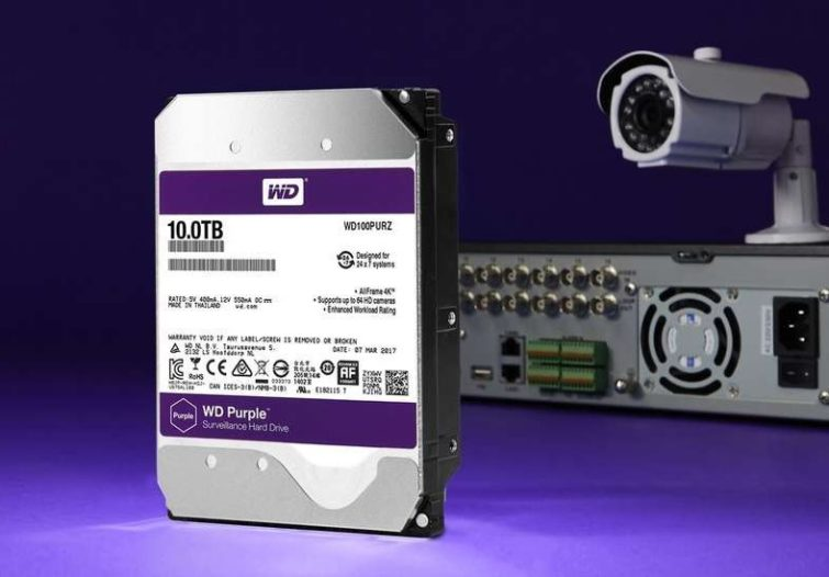 هارد وسترن دیجیتال بنفش برای سیستم های نظارتی