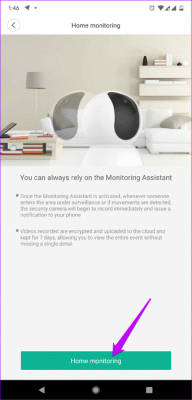 Alert Setting in home security 360