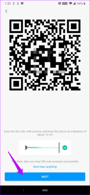 اسکن QR کد از اپلیکیشن Mi Security 360