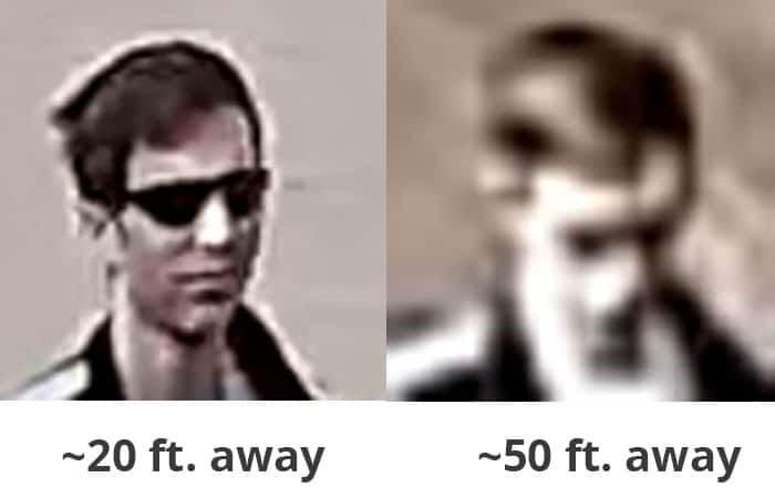 مقایسه ویژگیهای تصویر چهره در فاصله های متفاوت توسط دوربین بلورمز